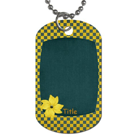 Sweet Harvest Checker Tag By Bitsoscrap   Dog Tag (one Side)   Luuawtlx8e8p   Www Artscow Com Front