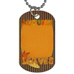 Sweet Harvest Autumn Leaves Tag - Dog Tag (One Side)