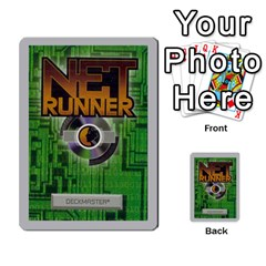 Netrunner Bs Runner 03 By Pedrito   Playing Cards 54 Designs   Li7rnaqdjv0i   Www Artscow Com Back
