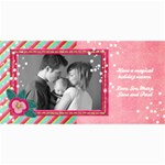 4x8 Holiday Photo Card-Pink Snow - 4  x 8  Photo Cards
