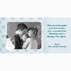 4x8 Holiday Photo Card Snowman By Mikki   4  X 8  Photo Cards   S4crqb3o3157   Www Artscow Com 8 x4 Photo Card - 4