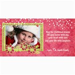 4x8 Holiday Photo Card, poinsettia1 - 4  x 8  Photo Cards