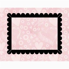 Art Nouveau 100% Love Pastel Pink Calendar 2015 By Catvinnat   Wall Calendar 11  X 8 5  (12 Months)   Ksczrgdr5av9   Www Artscow Com Month