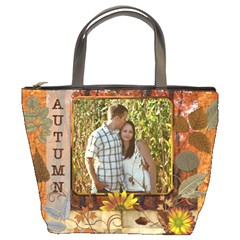 Autumn Foliage Bucket Bag By Lil    Bucket Bag   Jrs6t30cpde6   Www Artscow Com Front