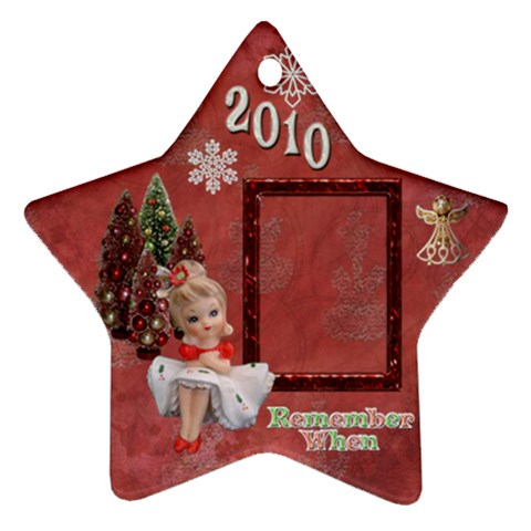 Girl Remember When 2010 Ornament 2 By Ellan   Ornament (star)   Af8ivfu3vtbr   Www Artscow Com Front