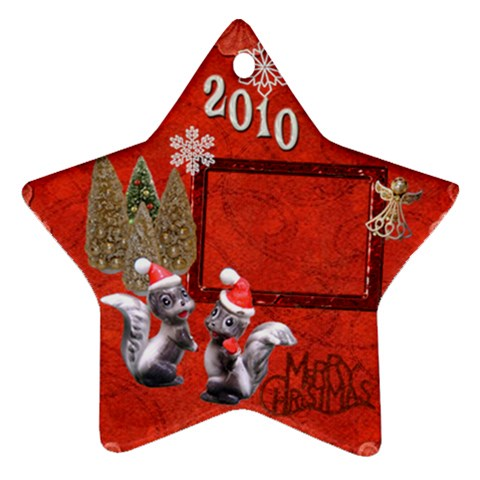 Skunk Remember When 2010 Ornament 13 By Ellan   Ornament (star)   3os32n39l4vn   Www Artscow Com Front