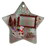 santa sleigh Remember when 2010 ornament 20 - Ornament (Star)