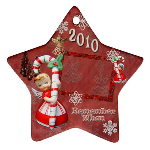 Angel Remember When 2010 Ornament 28 By Ellan   Ornament (star)   Oprliiepiuky   Www Artscow Com Front