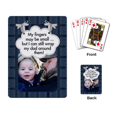Dad Playing Cards By Lil    Playing Cards Single Design   Quvamf0j84w1   Www Artscow Com Back