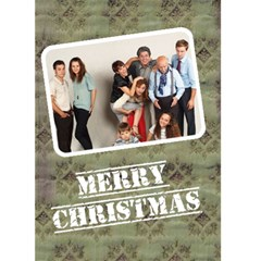 Christmas Family   Custom Greeting Card 5  X 7  By Carmensita   Greeting Card 5  X 7    O1xdpkvmt92y   Www Artscow Com Front Cover