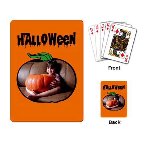 Halloween    Cards By Carmensita   Playing Cards Single Design   Irvekh23zme1   Www Artscow Com Back