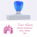 castle stamp - Rubber Address Stamp (XL)