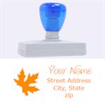 leaf address - Rubber Address Stamp (XL)
