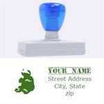 turtle stamp - Rubber Address Stamp (XL)