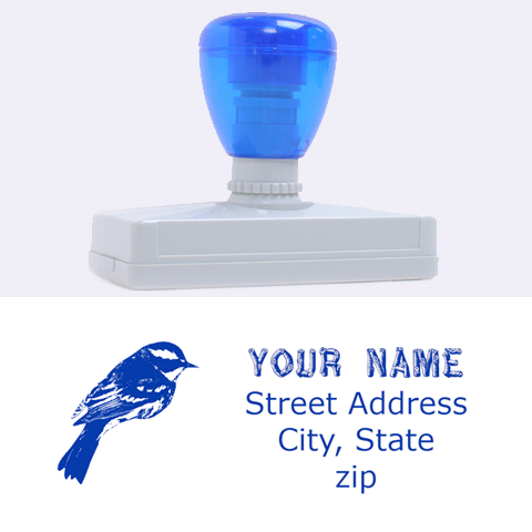 Finch By Brenda   Rubber Address Stamp (xl)   Iq41ssh4rz29   Www Artscow Com 3.13 x1.38  Stamp