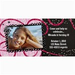 4x8 Zebra Glitter Birthday Photo Card - 4  x 8  Photo Cards