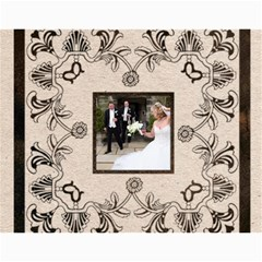 Twin Hearts Neutral Wedding Celebration Calendar 2015 By Catvinnat   Wall Calendar 11  X 8 5  (12 Months)   Q1skuhjbdt8c   Www Artscow Com Month