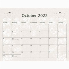 Twin Hearts Neutral Wedding Celebration Calendar 2015 By Catvinnat   Wall Calendar 11  X 8 5  (12 Months)   Q1skuhjbdt8c   Www Artscow Com Oct 2015