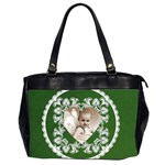 Lacy Heart hunter green oversized office bag - Oversize Office Handbag (2 Sides)