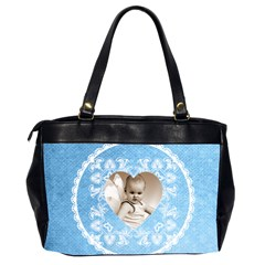 Lacy Heart Sky Blue Oversized Office Bag By Catvinnat   Oversize Office Handbag (2 Sides)   Zrtmyxc0z2ob   Www Artscow Com Back