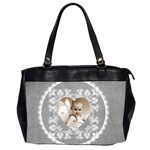Lacy Heartpalest grey oversized office bag - Oversize Office Handbag (2 Sides)
