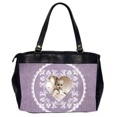 Lacy Heart Lavendar Oversized Office Bag By Catvinnat   Oversize Office Handbag (2 Sides)   S34h1mwdgtxz   Www Artscow Com Back