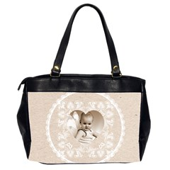 Lacy Heart Latte Oversized Office Bag By Catvinnat   Oversize Office Handbag (2 Sides)   U2344vz1l8kn   Www Artscow Com Back