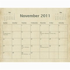 2011 Calendar By Barb Hensley   Wall Calendar 11  X 8 5  (12 Months)   Zgkhex7ioaen   Www Artscow Com Nov 2011