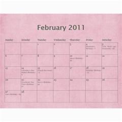 2011 Calendar By Barb Hensley   Wall Calendar 11  X 8 5  (12 Months)   Zgkhex7ioaen   Www Artscow Com Feb 2011