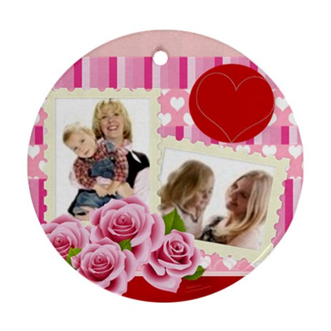 Kids Flower By Joely   Ornament (round)   8zb6qgne56ue   Www Artscow Com Front