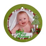 Baby s First Christmas Ornament 6 - Ornament (Round)