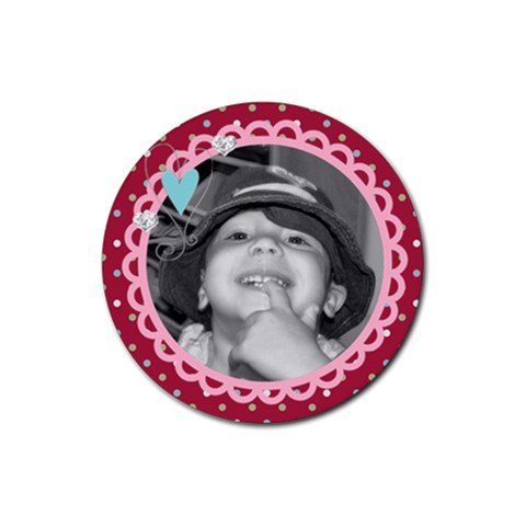 Cute Photo Coaster By Martha Meier   Rubber Round Coaster (4 Pack)   0oxtiryyo0vt   Www Artscow Com Front