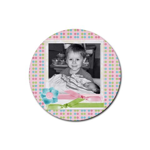 Cute Photo Coaster3 By Martha Meier   Rubber Round Coaster (4 Pack)   Jlhsrhcdu4qe   Www Artscow Com Front