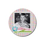 cute photo coaster3 - Rubber Round Coaster (4 pack)