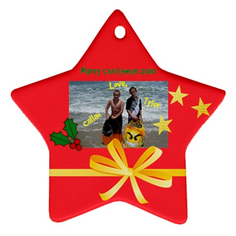 Ty And Cal Ornament By Jennifer Scharba   Ornament (star)   N93lcwkstfna   Www Artscow Com Front