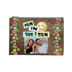 Fun In The Sun Large Cosmetic Bag By Lil    Cosmetic Bag (large)   H0o54tcw68k5   Www Artscow Com Front
