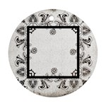 art nouveau monochrome laceround single side ornament - Ornament (Round)