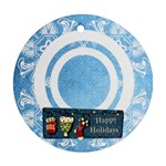 art nouveau happy holidays round single side ornament - Ornament (Round)