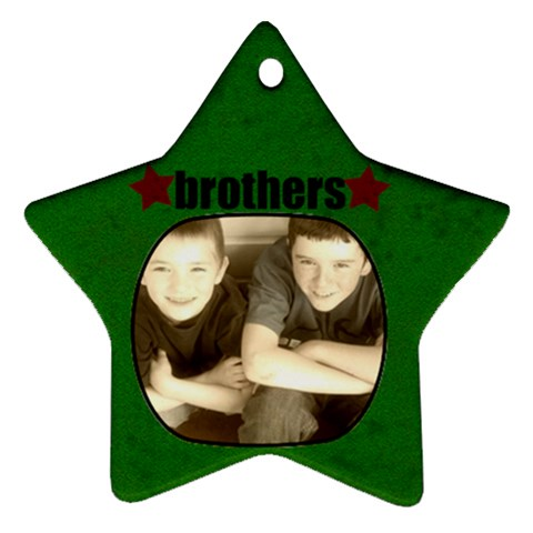 Brothers Star Ornament By Amanda Bunn   Ornament (star)   Xdaa02krm9wj   Www Artscow Com Front