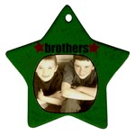Brothers Star Ornament - Ornament (Star)