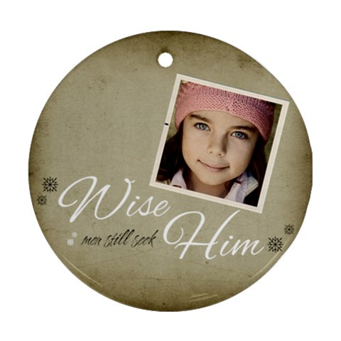 Christmas Wise Ornament Clear By Jorge   Ornament (round)   Hv7997grj3w9   Www Artscow Com Front