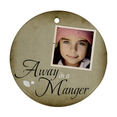 Christmas Manger Ornament Clear By Jorge   Ornament (round)   Crbhmd8x6biu   Www Artscow Com Front