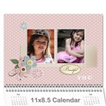 Calendar Template- Beautiful You - Wall Calendar 11  x 8.5  (12-Months)