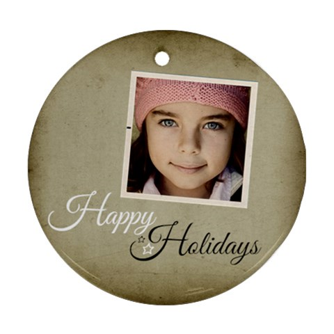 Christmas Happy Holidays Ornament Clear By Jorge   Ornament (round)   Klujqakkhzzi   Www Artscow Com Front