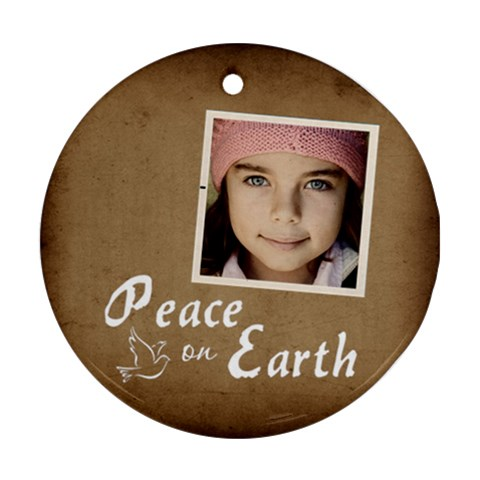 Christmas Peace Earth Ornament  By Jorge   Ornament (round)   M2klm75bfa1m   Www Artscow Com Front
