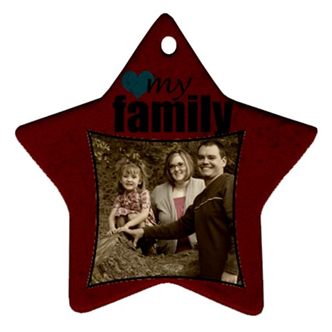 Star Ornament By Amanda Bunn   Ornament (star)   3nmvbq26zd76   Www Artscow Com Front