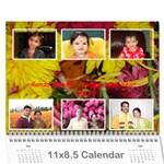 Konda Calendar - Wall Calendar 11  x 8.5  (12-Months)