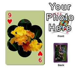 Iris 54 Design Card Deck Purple By Ellan   Playing Cards 54 Designs   H8ric8u3l2ao   Www Artscow Com Front - Heart9