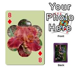 Iris 54 Design Card Deck Purple By Ellan   Playing Cards 54 Designs   H8ric8u3l2ao   Www Artscow Com Front - Diamond8