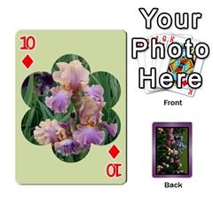 Iris 54 Design Card Deck Purple By Ellan   Playing Cards 54 Designs   H8ric8u3l2ao   Www Artscow Com Front - Diamond10